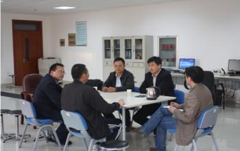 泰山体育产业集团总裁卞志勇一行来我中心进行考察和项目洽谈
