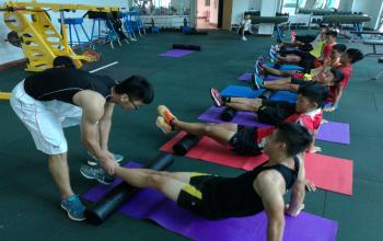 学生教学技能实践课--体育系2013级学生于建江