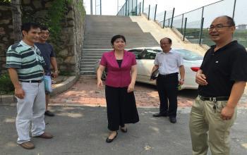 张艳霞副院长检查指导2016年暑期工程项目跟踪审计工作