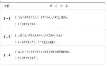 2016年山东体育学院教职工政治理论学习计划(12月份)