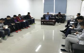 武术学院济南校区学生党支部召开专题组织生活会