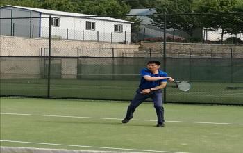 2017年我校网球比赛精彩瞬间