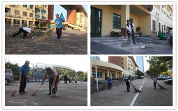 日照校区开展卫生保洁责任区大扫除活动