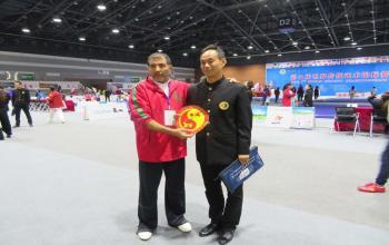 我院教师圆满完成第七届世界传统武术锦标赛裁判任务