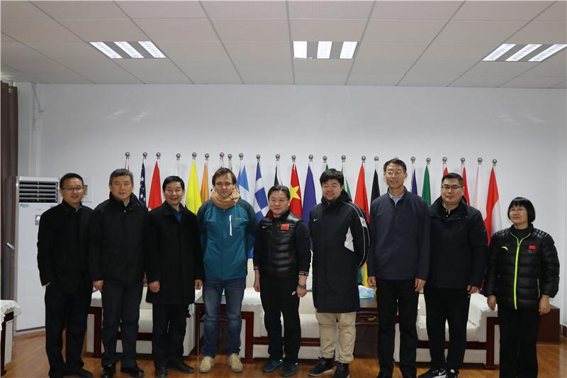 中国足协和省排管中心领导专家来校区考察