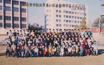 我们是山体人:1996级体育系合影