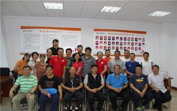 竞体学院邀请国家田径队教练员到田径教研室进行经验交流