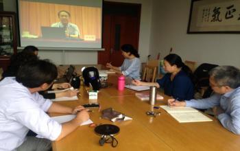 我院组织教师观看2018年高校思政课骨干教师研究班课程直播